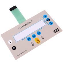 Painel de interruptor de membrana com botão de pressão com adesivo 3M467