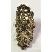 Big Lace Metal Ring Lady′s Fashion Jewelry