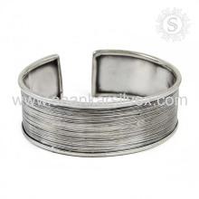 Simple plat Bracelet en argent Design 925 Bijoux en argent Vente en gros Bijoux en argent Inde