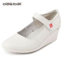 Confortável branco enfermeira sapatos com design casual
