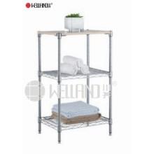 Banheiro de canto Rack de armazenamento de aço inoxidável (CJ703590B3C)