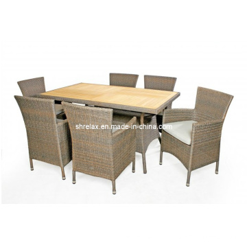 Patio en osier mobilier jardin chaise Table rotin dinant l'ensemble