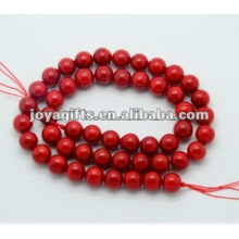 Perles rondes de corail rouge de 8MM