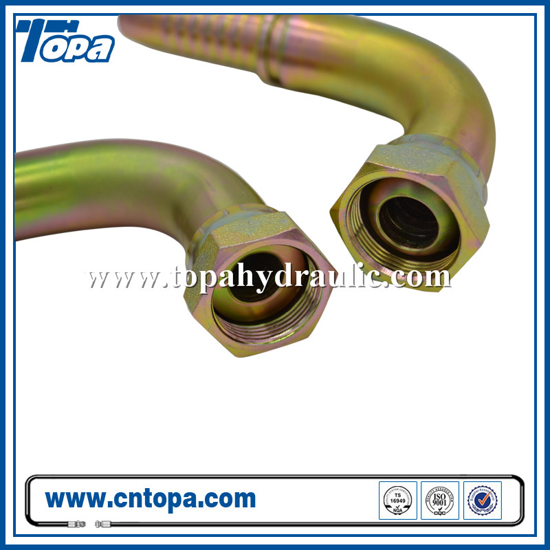20291 Elbow 90 Degree Carbon Steel And Zincing Metric Hose Fittings