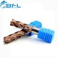 BFL CNC endmill Endurador de carburo 4 flautas Desbaste Endmill cubierto