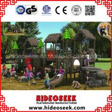 ASTM padrão de madeira ao ar livre campo de jogos para crianças