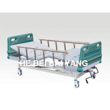 (A-64) - Cama de hospital manual de duas funções com cabeça de cama ABS