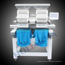 2 cabezas plana + tapa + máquina del bordado de prendas acabadas China