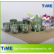 9PCS Keramik Vintage Teeservice Made in China