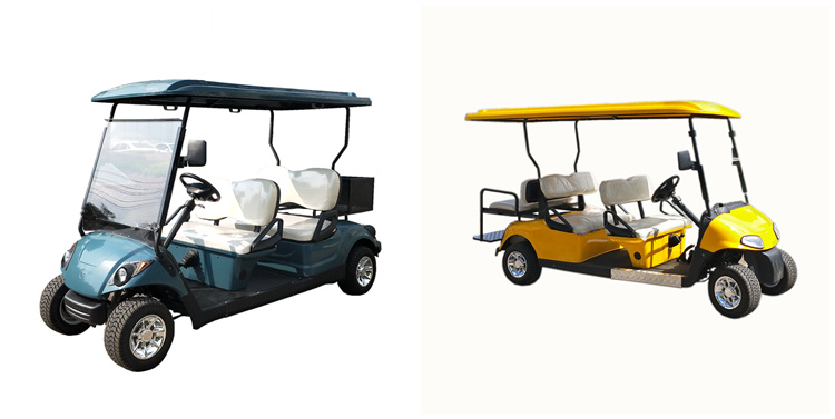4 Seaters Golf Carts With 2 Rear Seats