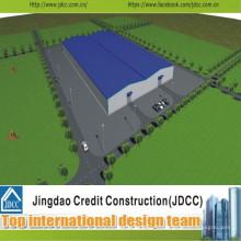 Conception de fabrication et de construction pour l'atelier de grande structure en acier
