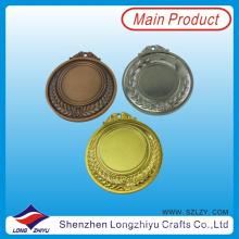 Medalla deportiva en blanco con diseño personalizado Medidas de acabado personalizadas