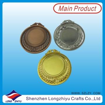 Medallas baratos Medalla de metal en blanco 65 mm de oro plata bronce en blanco Medalla de deporte de metal (lzy00048)