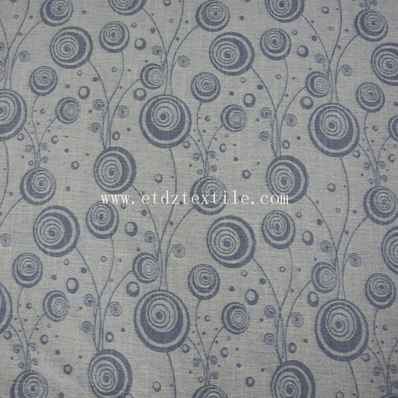 2016 Hot sell Linen Jacquard curtain fabirc 6021#