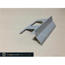 Aluminum Corner Trim Profile with Powder Coated Grey