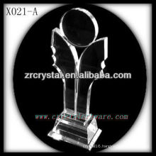 attractive design blank crystal trophy X021-A