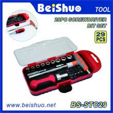 29PCS Screwdriver Bit Set com conjunto de ferramentas de mão