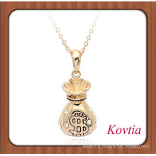 Wholesale jewelry gold money bag shape necklace design