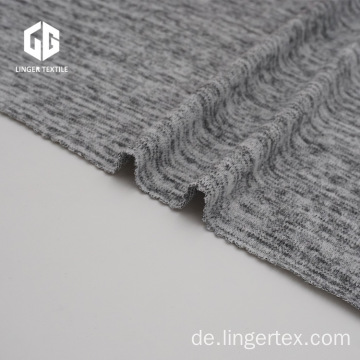 Heather Grey Polyester Hacci Stoff für Pullover