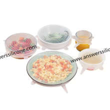 6Packs Food Grade Flexible Silicone Stretch Lids Set