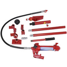 NITOYO 4 Ton Porta Power Hydraulic Jack Body Frame Repair Kit Auto Shop Tool Heavy Set