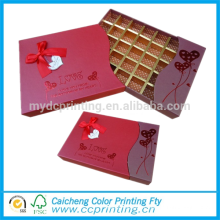 Boîte d'emballage de cadeau de boîte de papier de chocolat de carton
