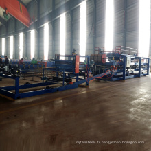 Chine fabricant polyuréthane laine de roche panneau sandwich fabrication ligne / sandwich panneau panneau mural rouleau formant la machine