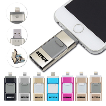 Unidad flash USB 3 en 1 Otg Flashdrive