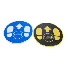 3d epoxy social distancing custom antiskid printable floor stickers