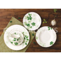 New Bone China Geschirr mit Blatt-Design