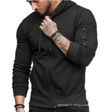 Veste de survêtement à capuche zippée pour homme