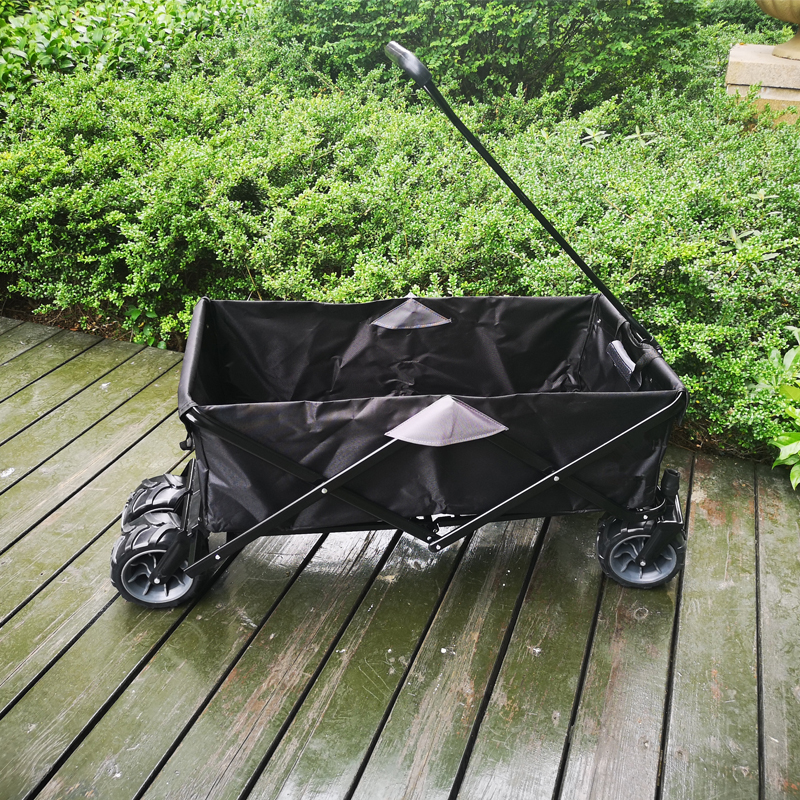 Oxford Cloth Portable Wagon Garden Trolley Cart