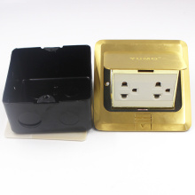 Yumo Brass Cover Ground Socket Electrical Pop up Socket para suelo