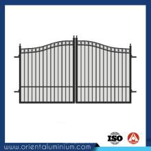 Design de portão tubular de alumínio