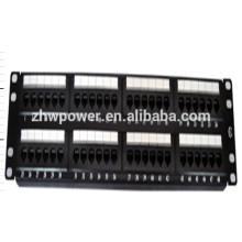 UTP cat5e 48 porta keystone jack patch painel com material PC ABS