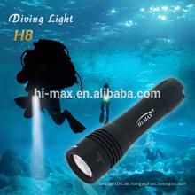 Hi-max Protable Größe back up Licht cree xm-l T6 führte Silber LED-Taschenlampe