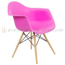 Eames Arm Chair with Wood Legs