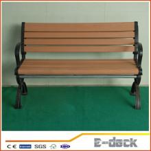 Compuesto de plástico de madera impermeable wpc parque silla silla de jardín bordo