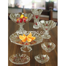 home use glass crystal fruit bowl tray bowl