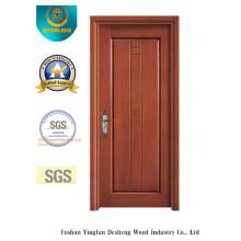 Puerta de MDF a prueba de agua de diseño moderno para habitación con madera maciza (xcl-031)