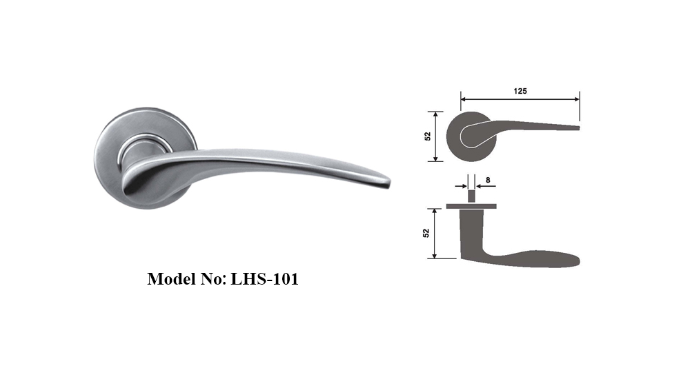 Door Lever with Traditional Wave Design