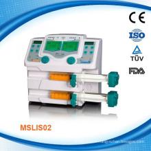MSLIS02W Pompe à seringue à infusion médicale haute pression atmosphérique avec infusion à double canal