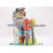 Cohete de pop, cohete de eva, juguetes de eva, cohete de juguete