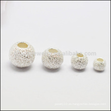 La plata esterlina 925 heló los resultados SEF011 de la joyería de los granos DIY de la flor