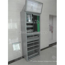 Customized Floor Standing Retail Store Advertising Top Lighting Metal Spring Cigarette Display Case