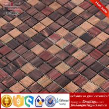 China supply factory cheap products rustic mixed design Hot - melt mosaic tiles
