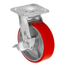 Série de roulettes résistantes - 8 po W / frein latéral
