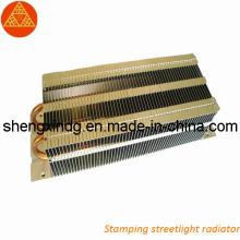 Carimbando o radiador do revérbero / carimbando as peças (SX001)