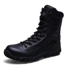 Neue Design Echtleder Militär Kampf Stiefel Polizei Taktische Stiefel (31004)