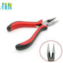 ZYT0004 Mini Flachzange mit rotem Griff für Anhänger Halskette Schmuck machen